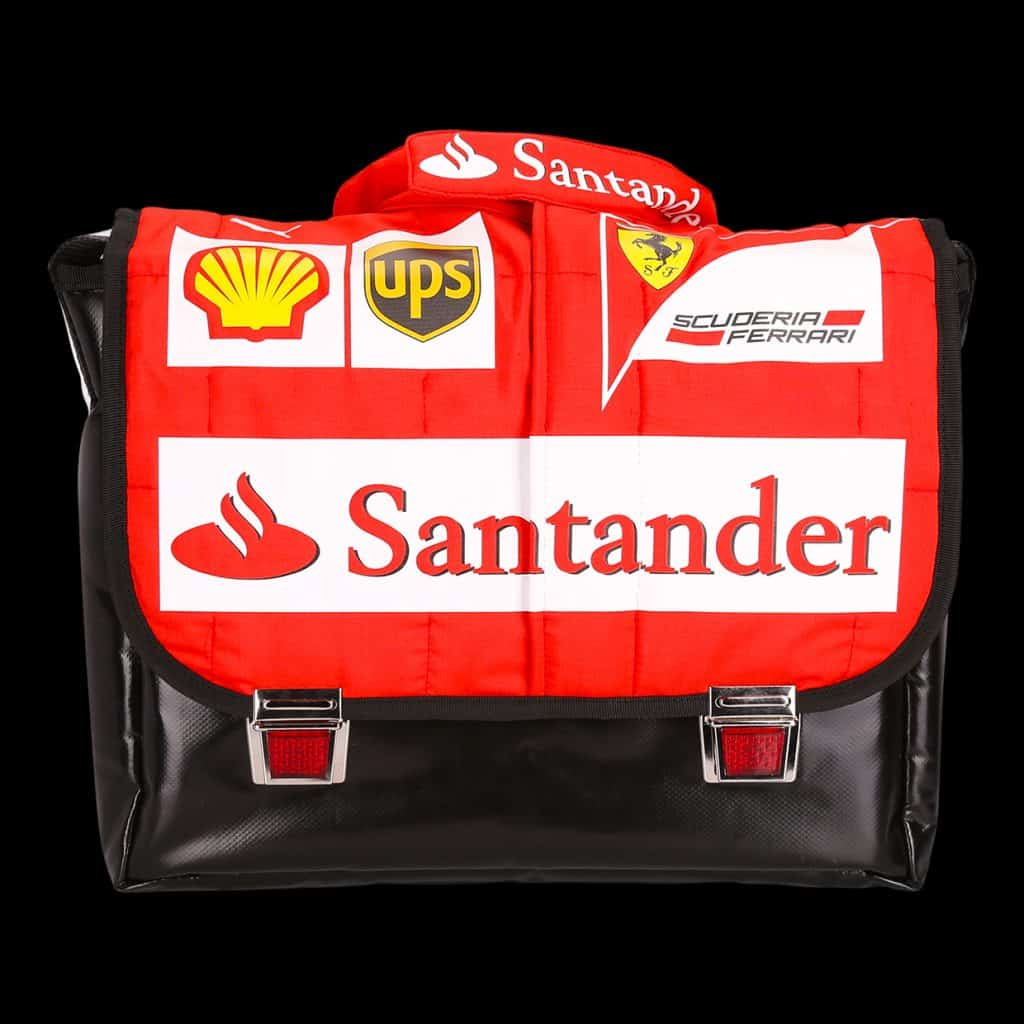 Shoulder bag from racing suit